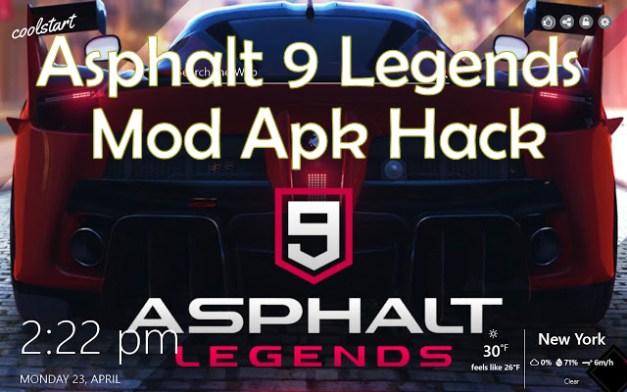 Asphalt 9 Legends Mod apk hack 162a