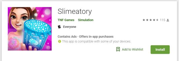 Slimeatory Google Play Store Link