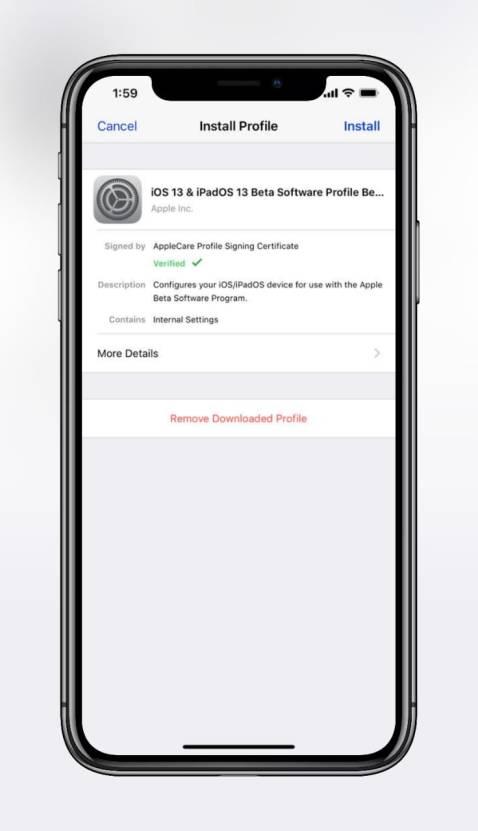 iOS 13 Beta 2 ipsw Profile Link