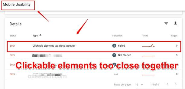 Clickable elements too close together WordPress fix Google Search Console