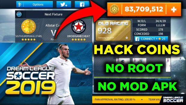 Dream League Soccer 2019 Profile.dat hack for unlimited coins