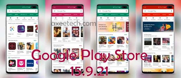 Google Play Store 15.9.21 Apk July 2019