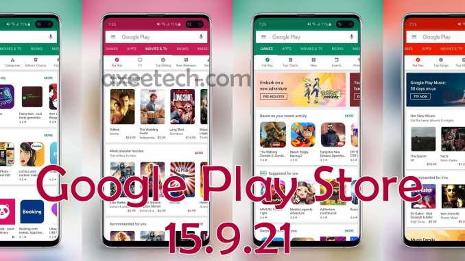Google Play Store 15.9.21 Apk July 2019