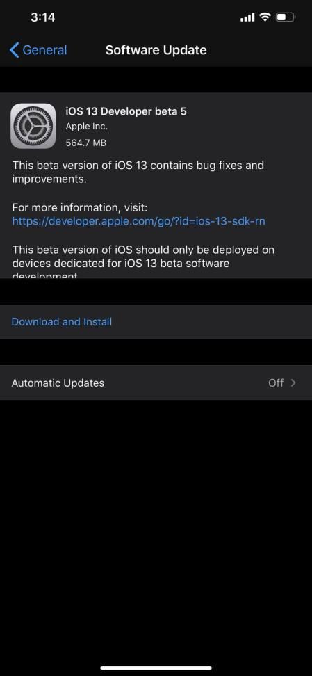 ipsw file links of iOS 13 Beta 5