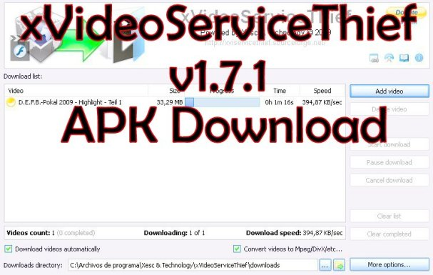 xVideoServiceThief 1.7.1 Apk Download