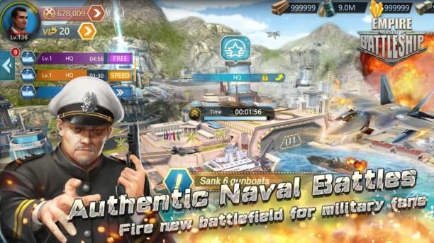Empire Rise of Battleship Mod Apk hack