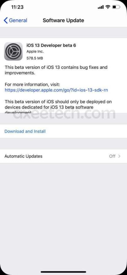 iOS 13 Beta 6 ipsw iPhone, ipad, iPadOS 13