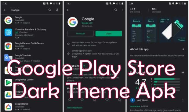 Google Play Store Dark Theme