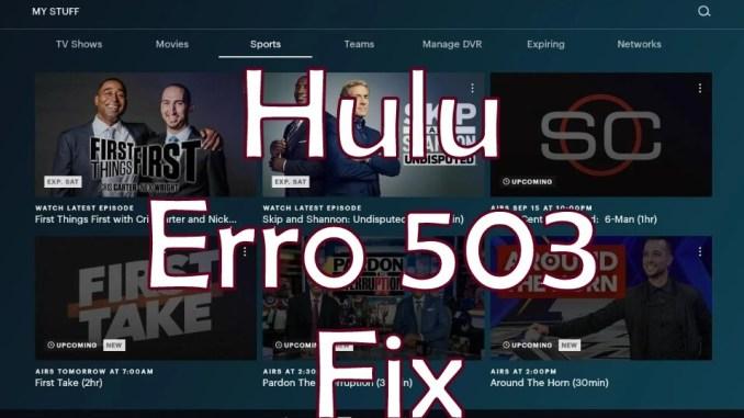 Hulu Error 503 Fix