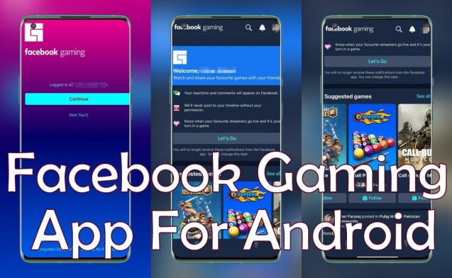 Facebook Gaming Apk App for Android devices