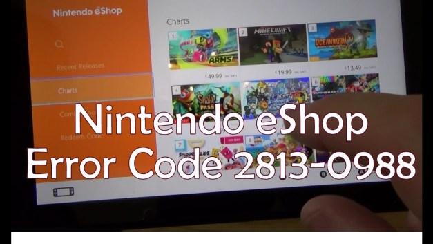 Nintendo eShop Error Code 28130988