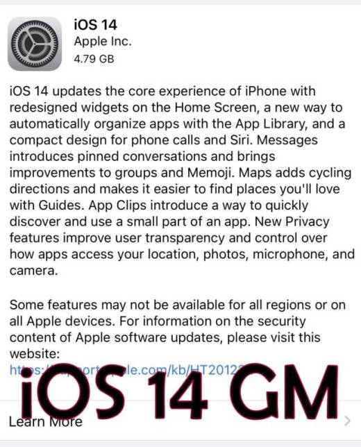 iOS 14 GM