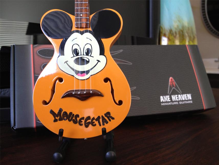 "Mickey Mouse ""Mousegetar"" Custom-Made AXE HEAVEN® Miniature Guitar"