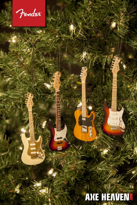 NEW 2014 Mini Fender Christmas Guitar Ornaments AXE
