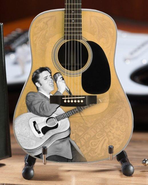 Elvis Presley 55' Tribute Acoustic Mini Guitar Model – Officially Licensed