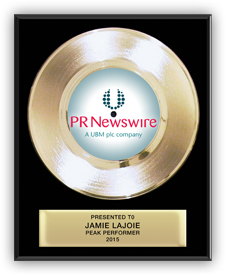 Gold Record Award for PR Newswire - Classic 7""