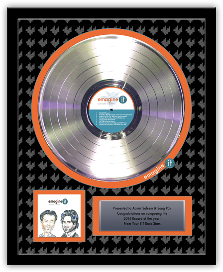 Platinum Record Award for emagine it - Deluxe 12""