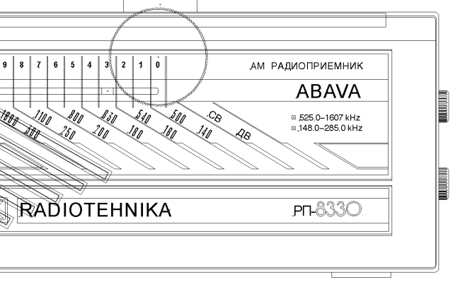 Radio Abava vector art