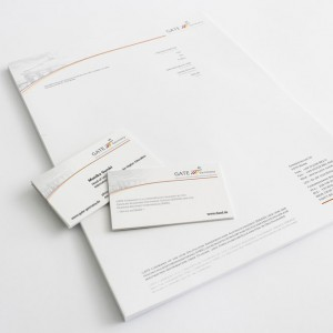 GATE Briefpapier und Visitenkarten