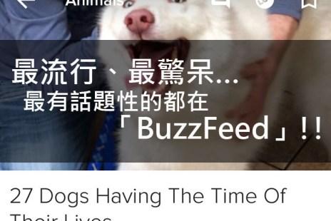 最流行、最驚呆、最具話題性的資訊都在「BuzzFeed」!