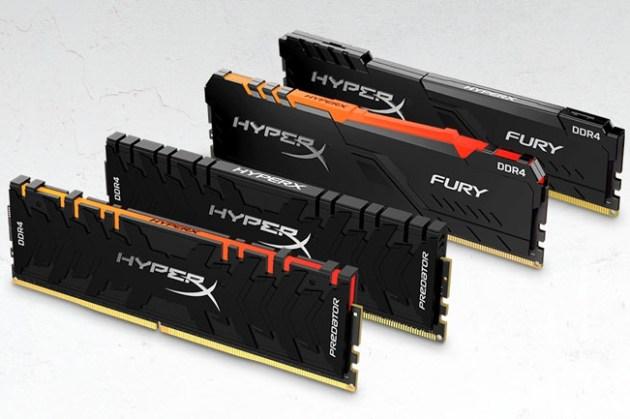 HyperX Predator DDR4 RGB、FURY DDR4 RGB記憶體再升級!速度高達 4600 MHz 且擁有最大 256 GB 套裝組!