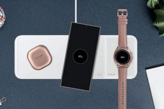 三星「三充版」無線充電器 Wireless Charger Trio 已在韓國與歐洲官網上線,內建六線圈、專為 Galaxy Watch 設計的磁吸座使用更方便!