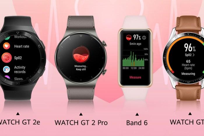監控血氧成為防疫守護健康一環!HUAWEI WATCH GT2 、Band 6 系列智慧運動穿載皆有內建!