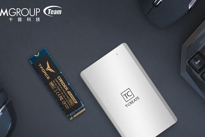 創作者與電競玩家飆速必備!十銓科技推出 T-CREATE 開創者 CLASSIC Thunderbolt3 外接式 SSD 及 T-FORCE CARDEA 黑武士 Z44L PCIe4.0 SSD!