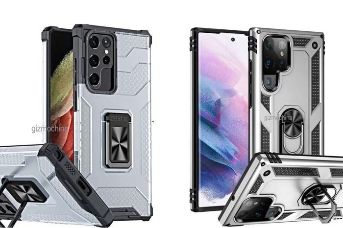 Galaxy S22 Ultra 保護殼曝光,確認 P 型相機模組與內建 S Pen 筆槽的設計!