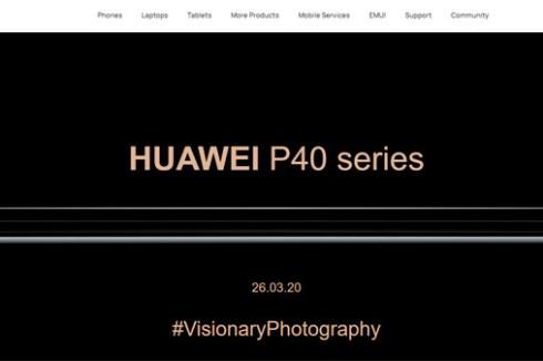 就在今夜!HUAWEI P40 系列全球發布會於台灣時間 3/26 晚間 21:00 舉行!