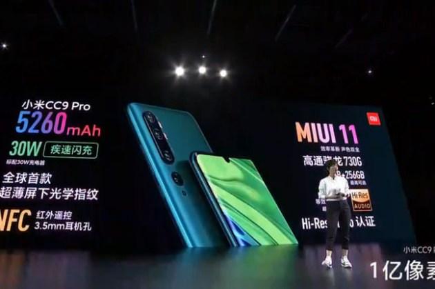 小米正式發表最頂級照相手機「小米 CC9 Pro」,五鏡頭配置、包括 1 億像素主攝,奪得 DXOMARK 121 高分!