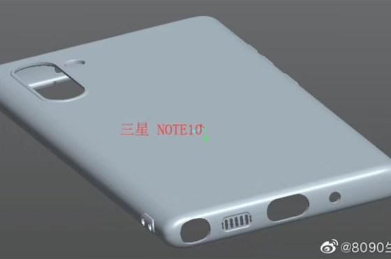 [Mobile] Galaxy Note10 保護殼 3D 渲染圖流出…確認相機縱向排列形式…以及耳機孔移除?