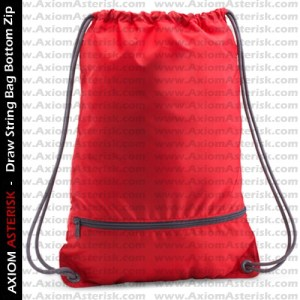 DRAW STRING BAG [ZIP BOTTOM]