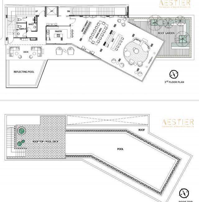 Floor 3 and roof top