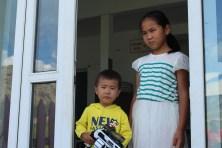 Due bambini mongoli.