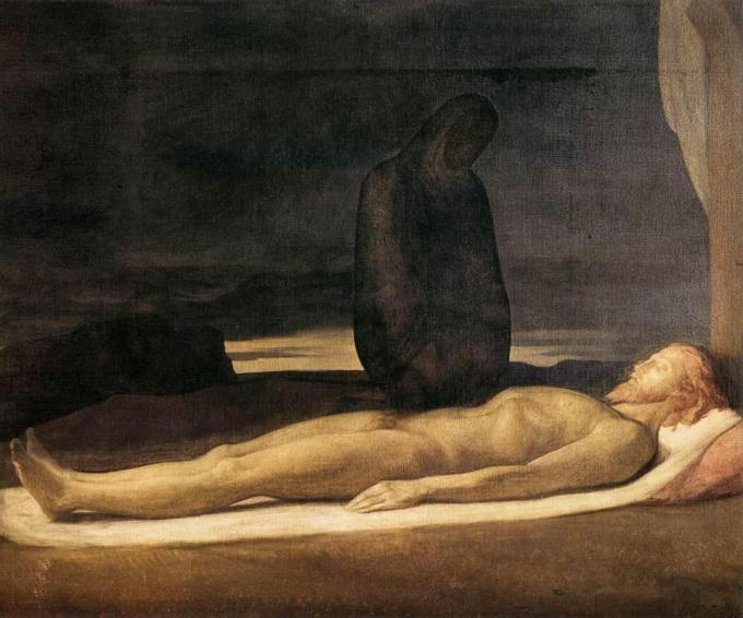 Hippolyte Flandrin (French, 1809-1864), Pietà (1842)