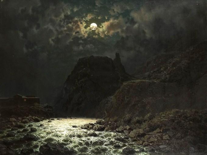 Ilya Nikolaevich Zankovsky (Russian, 1832-1919), Darjalpasset Oil on canvas, 101,5 x 133 cm Private collection