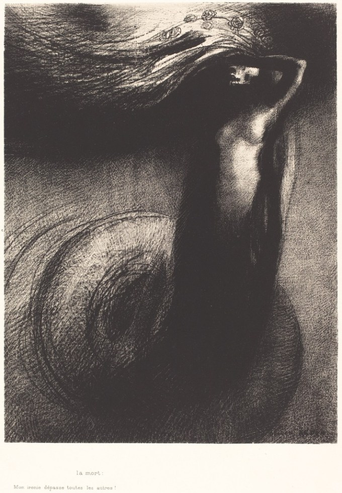 Odilon Redon Death- My iron surpasses all others 1889