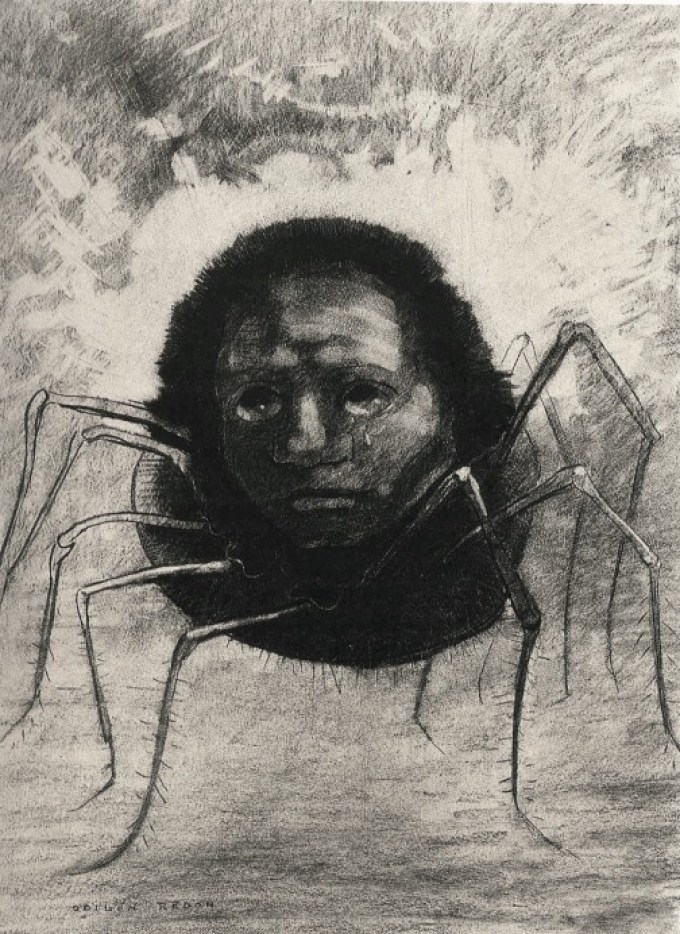 Odilon-Redon-The-Crying-Spider-1881-e1429566923102