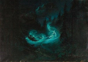 "Karl Wilhelm Diefenbach, ""The Fairy Dance"", 1895"
