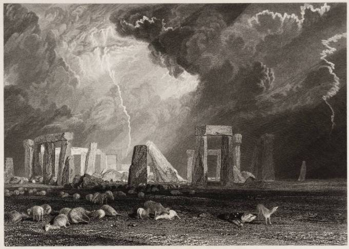 Stone Henge, Wiltshire, engraved by Robert Wallis 1829 by Joseph Mallord William Turner 1775-1851