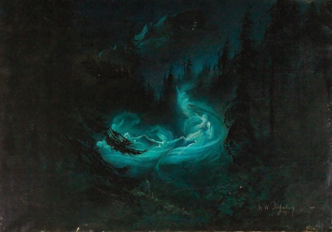 The fairy dance, 1895 by Karl Wilhelm Diefenbach