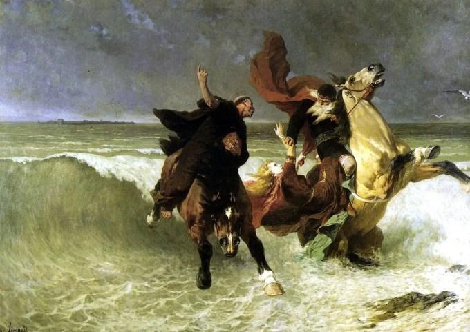 Evariste-Vital Luminais - Fuite de Gradlon (ca.1884)
