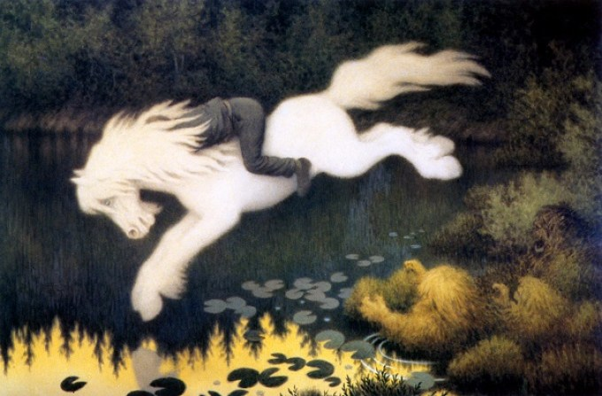 Theodor Kittelsen The Water Sprite as a White Horse 1909