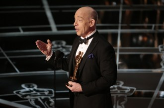 J. K. Simmons during his acceptance speech for Actor in a Supporting Role