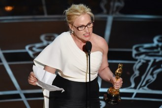 Patricia Arquette during her acceptance speech for Actress in a Suporting Role
