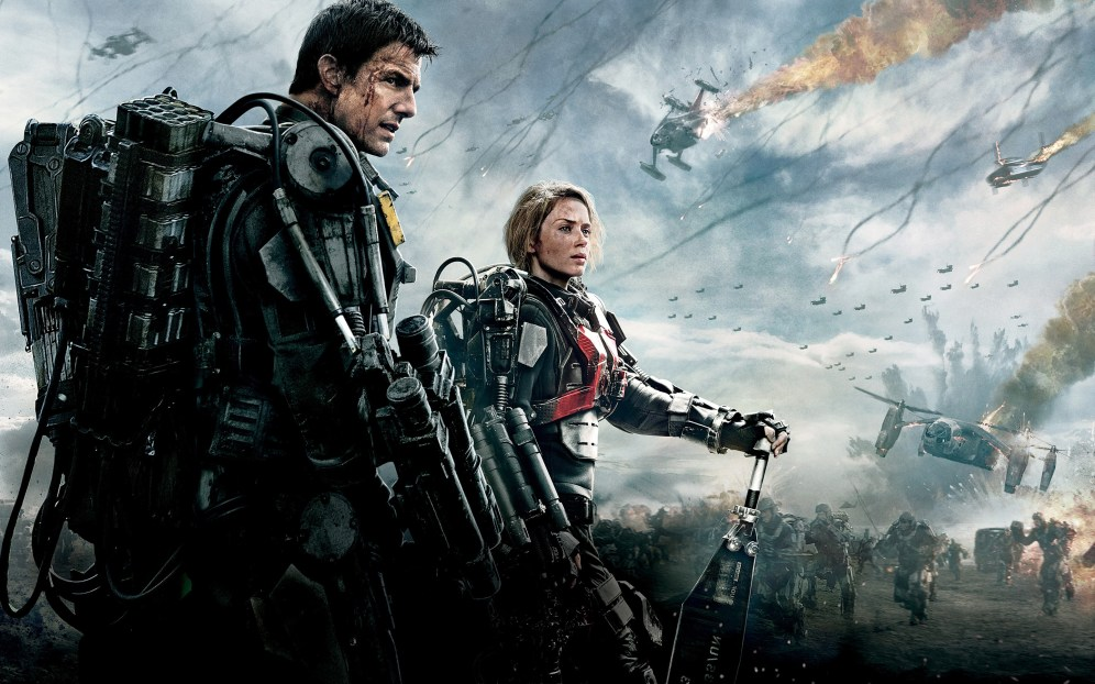 Tom Cruise as Cage and Emily Blunt as Rita, Edge of Tomorrow (2014)