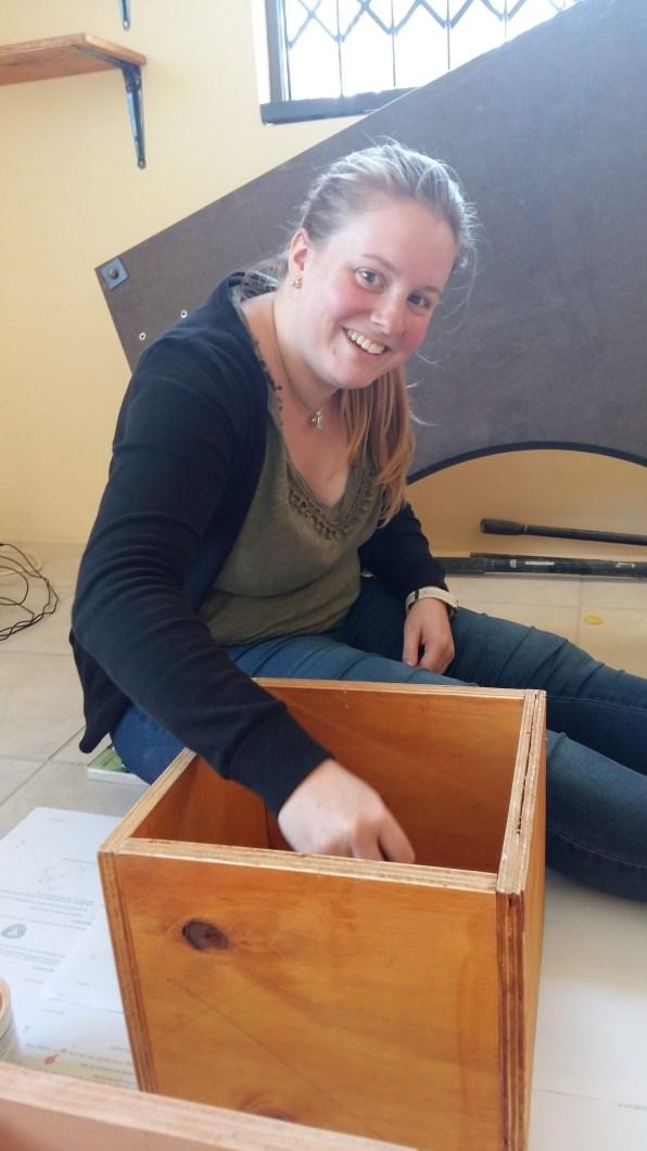 Vivien, star volunteer and office sorter!