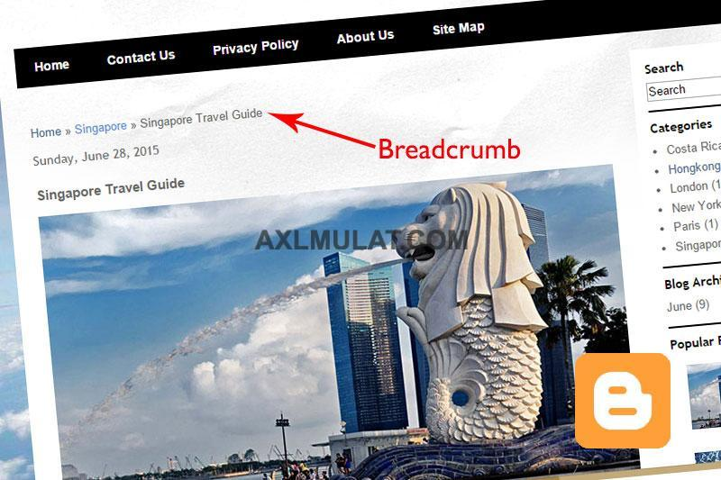 How To Add Breadcrumbs in Blogger Template