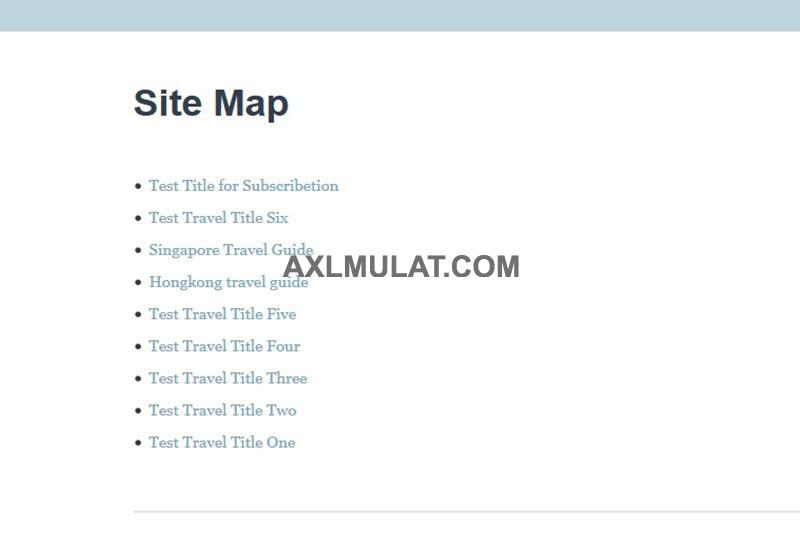 How to Create Sitemap Page in Blogger Blog (Step by Step)